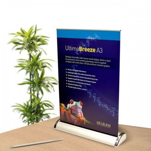 Ultima Breeze A3 Desktop Roller Banner