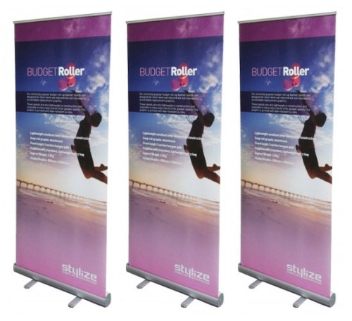 3 Budget Banner Stands
