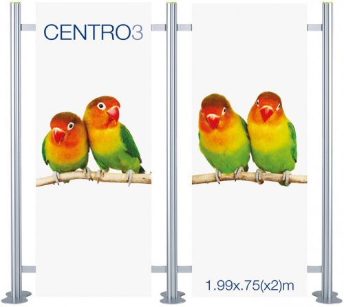 Centro 3 Straight Modular Display (2 Panel)