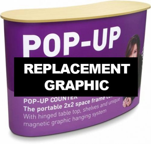 Replacement Pop Up Counter Graphic