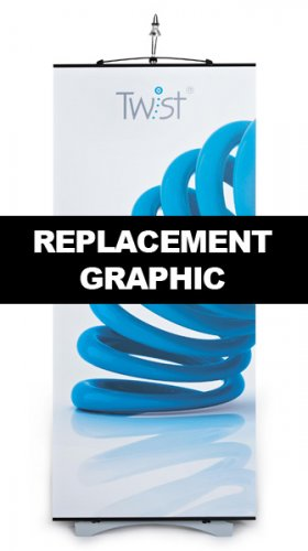 Replacement Twist Original Banner Stand Graphic