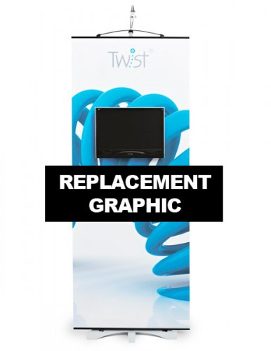 Replacement Twist Media Banner Stand Graphic