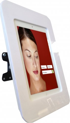 Wall Mounted iPad Display with Tilt and Swing Function