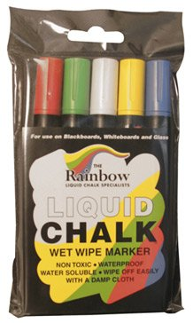 5 Colour Liquid Chalk Pens